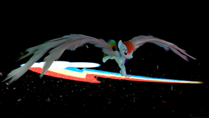 Rainbow Dash with some epic wings by Z-Free