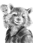 Rocket and Baby Groot (Guardians of the Galaxy 2) by SoulStryder210