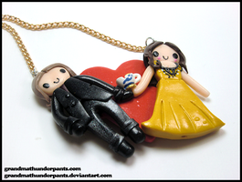 Belle + Mr. Gold Necklace by GrandmaThunderpants