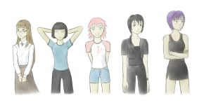Character designs by Silver1bow
