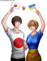 Hetalia: Japan x Ukraine by Rina-Kras