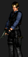 RE6 Mercs Leon S. Kennedy Asia Render -final- by RenegadeOperative