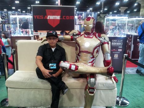 Me and Iron Man Chillin @ Comikaze 2013 by SWAVE18