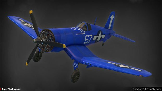 RC Gas Powered F4U-1D by LivewireDeviant