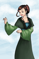 Chinese Girl Coloured by anna-fm