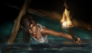 Lara Croft, Tomb Raider Reborn by MoniicaArt