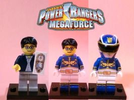 LEGO Power Rangers Megaforce Blue by 0yakata