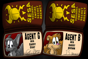 Agent G and Agent B by Hukley