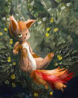 #37 Vulpix Pokemon by SuperRobotRainbowOwl