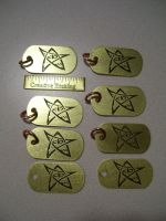 8 Elder Sign dogtags by creativeetching