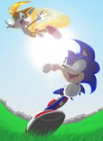 Free Spirited: Sonic and Tails by KicsterAsh
