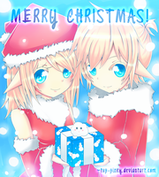 Christmas 2011: Kagamine Elves by neruteru