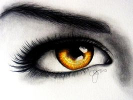 Zodiac eyes - Leo by Schoerie