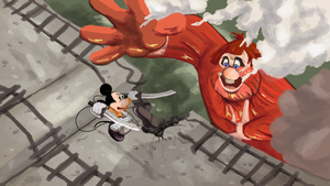 Attack on Mickey by Deus-Marionette