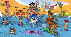 Hanna Barbera Summer Fun by slappy427