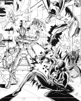 Ultron smacks down some Heroes! by dannphillips