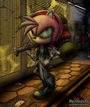 cyberpunk Amy Rose by MetaDragonArt
