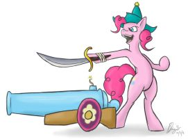 Pinkie Pirate Party Cannon by bingodingo