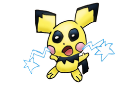 Melee collab - Pichu by Quacksquared