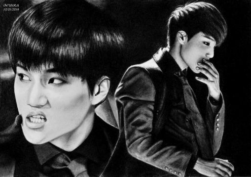 WILD KAI (Pencil Drawing) by diamondnura