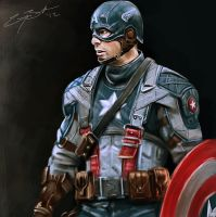 Captain America by GarryBrookes