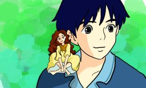 30DDC - day 5 - best friends - ARRIETTY AND SHO by artsyfartsyness