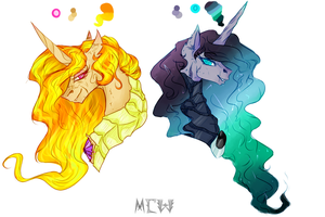 Celestia and luna my version by mew-vocaloid
