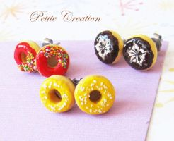 donut earrings collection by PetiteCreation