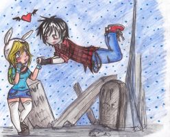 Marshal Lee and Fionna by sweetxdeidara