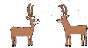 Rudolph meets Bambi by Simpsonsfanatic33