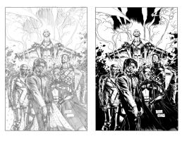 Whilce Portacio X-Force Inked by Alan-Gallo