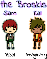 the Broskis - Sam and Kal by amis0129