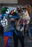 Punk Joker and Metal Scarecrow by beckyalbright