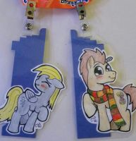 Custom MLP Badges- Derpy/Dr. Whooves (Unconnected) by GusTheBard