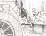 Resting by the Watermill by Fiyr