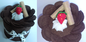 Felt Chocolate Cake by Riku-XD