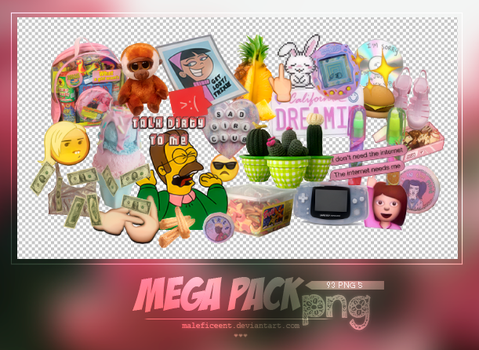 Mega pack png. by Maleficeent