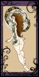 art nouveau by caffeinegoddess