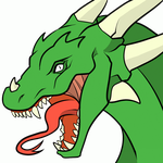 Dragon Head  Transparent Lineart By Dawnieda by SickSean