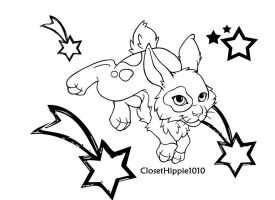 Rabbit Lineart by ClosetHippie1010