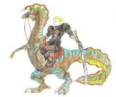 Knight on Dinosaur by Substance20