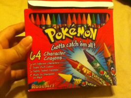Pokemon Crayons by dragonwarriorsgalore