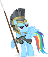 Rainbow Dash As Commander Hurricane by RedmondRoshi