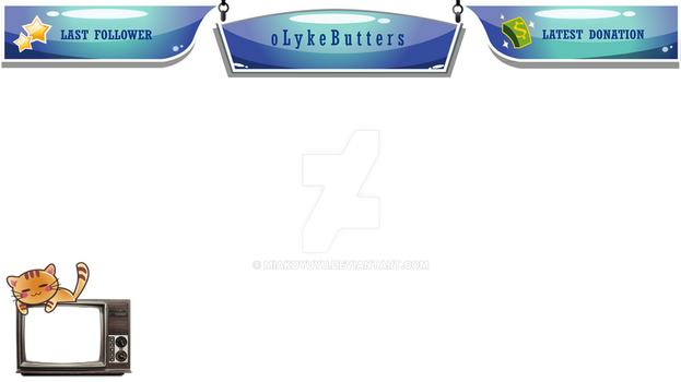 Twitch Overlay oLykeButters Commission by Miakoyuyu