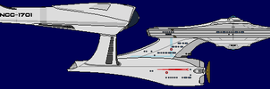 1 pixel per meter Enterprise by JohnnyMuffintop