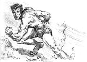 Namor Marvel Sketch by TheLadyNerd