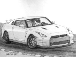 Nissan GTR by ronincloud