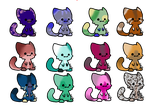 Cat adoptables by oOCometheartOo