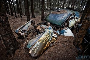 Chatillon car graveyard by nahojsennah