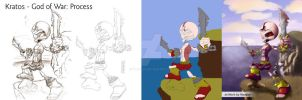 Kratos - God of War Process by Wangler